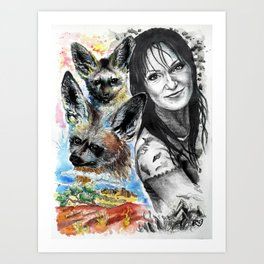 Interspecific affections Art Print