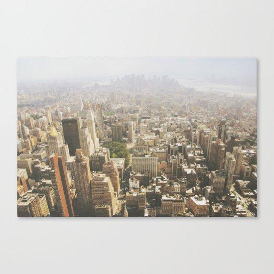Hazy City - Manhattan Canvas Print