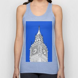 London Big Ben - Line Art Unisex Tank Top