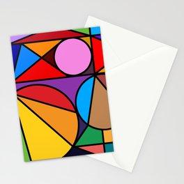 Rainbow Modern Art Stationery Cards