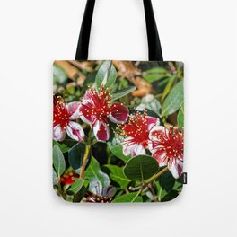 Beautiful Pineapple Guava / Guavasteen Flowers Tote Bag