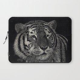 Scratchboard Tiger Laptop Sleeve