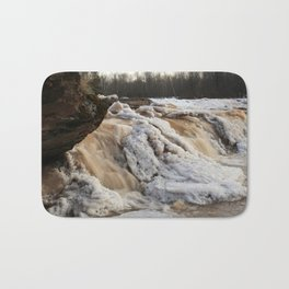 Wintry Bonanza Falls  Bath Mat