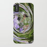 pixies iPhone & iPod Cases featuring Green Flower fairy by Nadine May