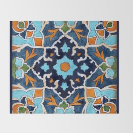 Mediterranean tile Throw Blanket