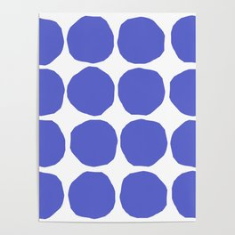 Blaue Punkte 001 / A Minimal Pattern Of Blue Dots Poster