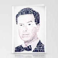stephen king Stationery Cards featuring Stephen Colbert by Perry Misloski