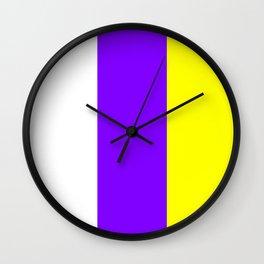 flag of canary islands 2b -canaries,canary,atlantic,canarias,Canarian,canario,canaria,spain,spanish, Wall Clock
