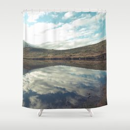 Sunny afternoon at a lake - Landscape Photography #Society6 Shower Curtain