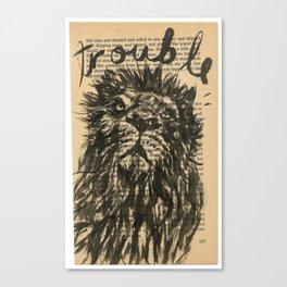 trouble, the lion Canvas Print