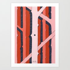 Mono Pattern | The Rosewood Art Print