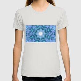 Star shaped neon dots 3d illustration kalaidoscope T-shirt