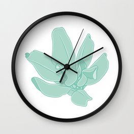 Simple Greenery Illustration Wall Clock