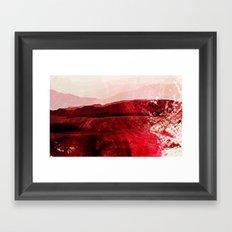 Dreaming of red Framed Art Print