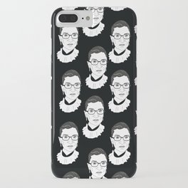 Ruth Bader Ginsburg, Large BW Pattern iPhone Case