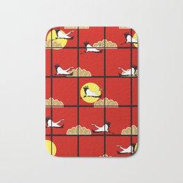 Flying cranes Bath Mat