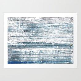 Blue gray stripes Art Print