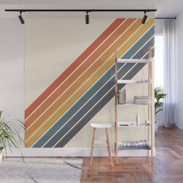 Arida -  70s Summer Style Retro Stripes Wall Mural