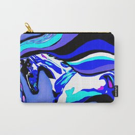 Horse Blue Carry-All Pouch