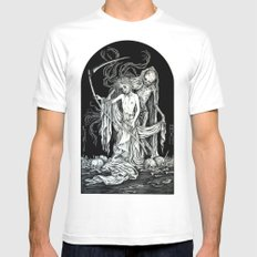 Death and the Maiden III White MEDIUM Mens Fitted Tee