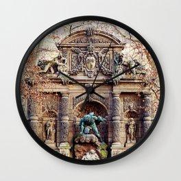 Medici Fountain in Autumn Wall Clock