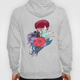 Chrysanth Wisteria & Lily - & Rose  Hoody