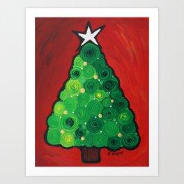 Oh Christmas Tree - Magical Christmas tree by Labor of Love artist Sharon Cummings Art Print