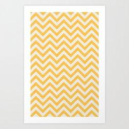 Yellow Chevon Strip Art Print