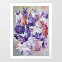 cats portrait Art Print