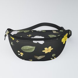Yellow Flowers & White Roses 2 Fanny Pack