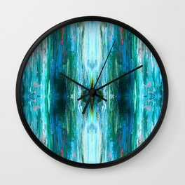 Abstract Ice Pattern Wall Clock