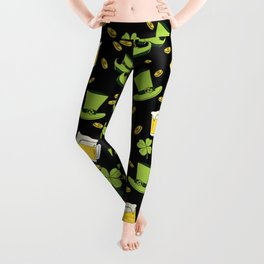 St Patricks day pattern Leggings