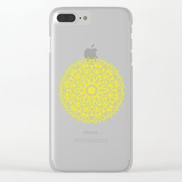 Mandala 12 / 3 eden spirit yellow Clear iPhone Case