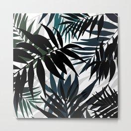 Shadow palm tree leaves Metal Print