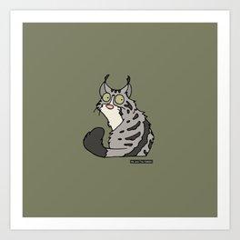 Cat - Norwegian Forest Cat Art Print