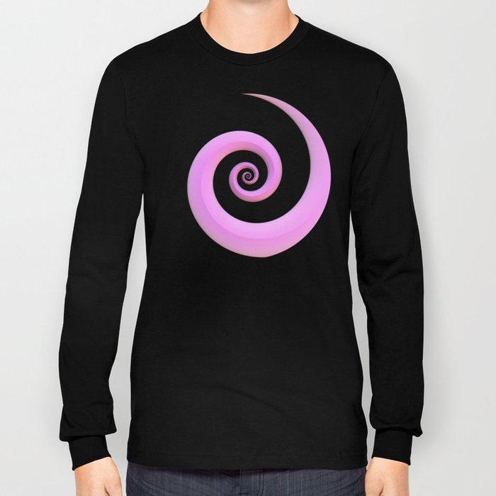 Curl, Pink Long Sleeve T-shirt