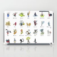 mythology iPad Cases featuring A-Z of Monsters & Mythology by James Courtney-Prior