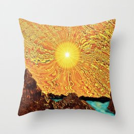 New Day, Same Sun Throw Pillow