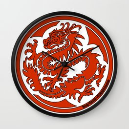 Tracy Queen - Crest of the Dragon Clan Wall Clock