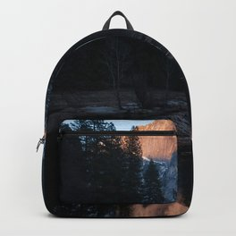 Half Dome Reflected in the Sunset Backpack