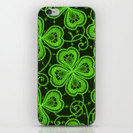 Clover Lace Pattern iPhone Skin