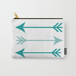 teal arrows Carry-All Pouch