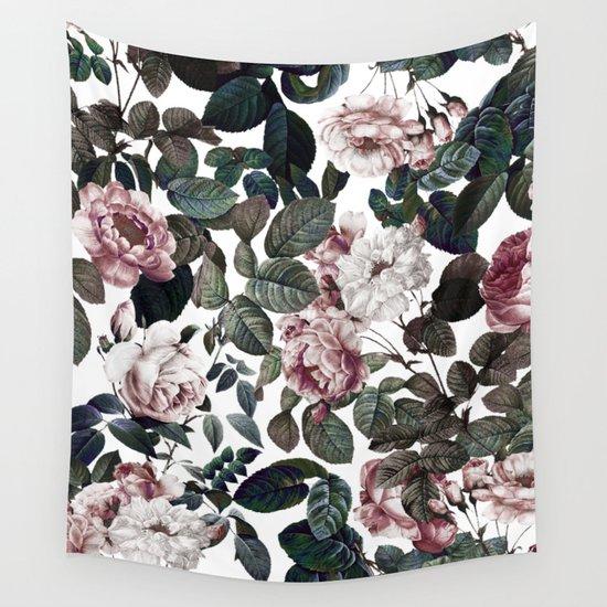 Vintage Garden Wall Tapestry By Burcu Korkmazyurek