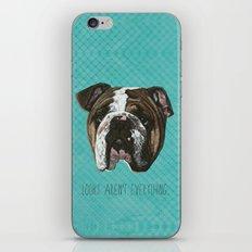 English Bulldog Print iPhone & iPod Skin