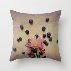Blooms and Berries Throw Pillow