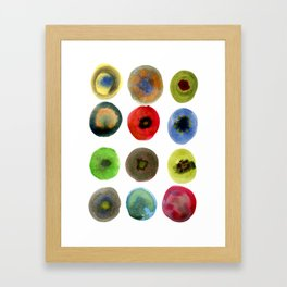 Consider the Circle 01 Framed Art Print