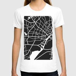 Singapore - Black Map T-shirt