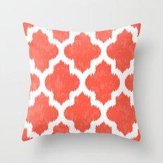 Coral & White  Throw Pillow