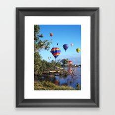 Hot air balloon scene Framed Art Print