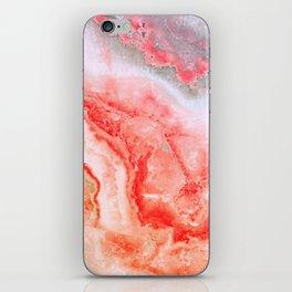 Luxury LIVING CORAL Agate Marble Geode Gem iPhone Skin